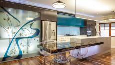 idée déco vitre cuisine artistique appartement