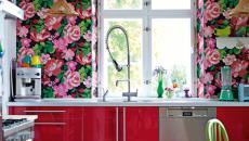 Décoration intérieure cuisine papiers en fleurs