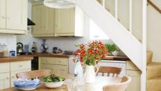 cuisine design retro sous l'escalier