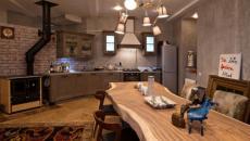 cuisine au design rustique bois massif