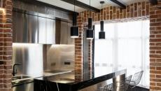 petite cuisine loft industriel de ville