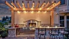 propriété rustique belle demeure cuisine d'été idées déco