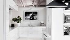 cuisine moderne en blanc loft design art