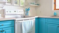 refaire sa cuisine en blanc et bleu