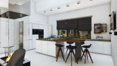 cuisine contemporaine futuriste appartement