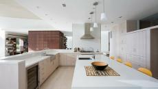 cuisine aménagée design contemporaine LED