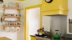 cuisine en jaune maison secondaire