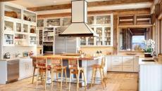 cuisine ouverte salle à manger design contemporaine bois