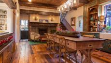 résidence secondaire de vacances intérieur cuisine rustique
