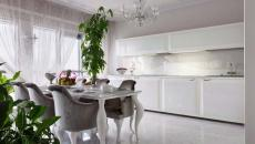 cuisine ouverte blanche moderne luxe