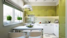 déco fraiche cuisine et petite salle à manger design