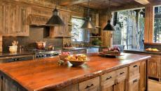 cuisine rustique rétro maison de campagne chalet de montagne