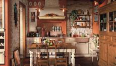 maison de campagne cuisine rustique revisitée