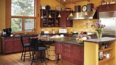 ambiance rustique cuisine en jaune