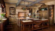 cuisine rustique de luxe bois