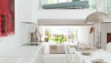 Cuisine et salle à manger design élégant blanc
