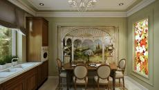 design baroque bois massif cuisine