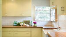 cuisine simples placards jaunes pâle