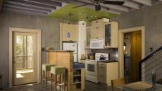 petit logement cuisine compacte fontionnelle