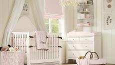 chambre bébé fille ameublement lit ciel voilage