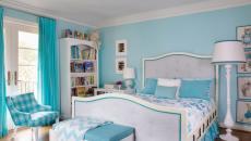 décoration en turquoise à l'aide de textiles