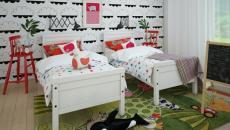 lits jumeaux déco amusante chambre d'enfants