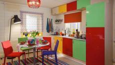 intérieur cuisine séparée décoration haut en couleurs