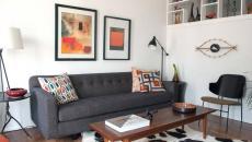 petit appartement de ville intérieur moderne étagères