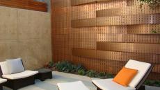 patio mur en cuivre design architecte
