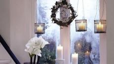bougies accessoires déco de Noël pour fenêtre