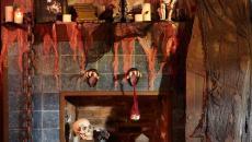 décorer cheminée pour Halloween