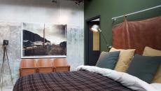 style industrielle chambre à coucher brut