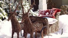 jardin idées déco pour Noël hiver