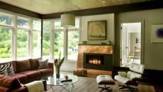 manteau cheminée cuivre moderne