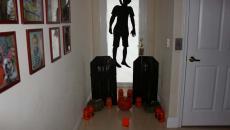 déco Halloween intérieur de maison entrée