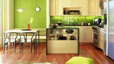 design moderne cuisine déco en vert citron