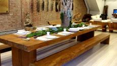 deco salon séjour salle à manger arbre intégré