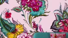 Murs décorés en fleurs pétillantes