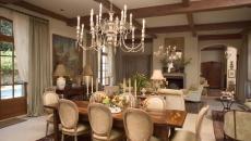 salle à manger rustique déco luminaire