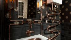 deco toilettes cuivre maison interieur
