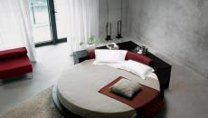 Lit design rond pour une chambre originale