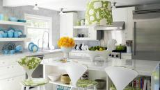 cuisine moderne fantaisie deco fleurs