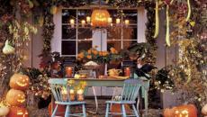 Jardin décoré Halloween idées automne citrouilles