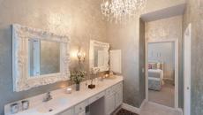 papier peint salle de bain design déco luxe