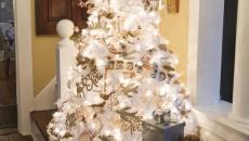 décoration petit sapin blanc illuminé électrique