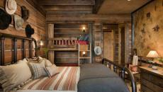 décor bois massif chambre rustique