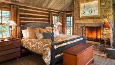 intérieur en bois maison dans la montagne