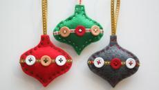 décorer sapin avec jouet à faire soi-même avec boutons