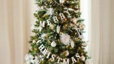 fête Noël jour de l'an sapin décorée