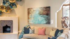design intérieur traditionnel séjour tableau peint